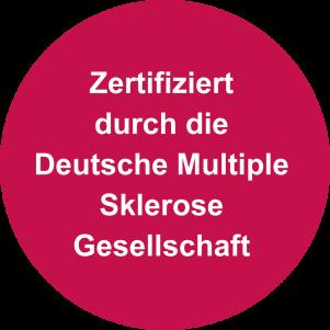 Zertifiziert durch die Deutsche Multiple Sklerose Gesellschaft